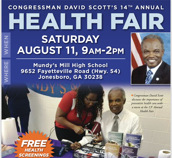 Congressman David Scott 14th Annual Health Fair