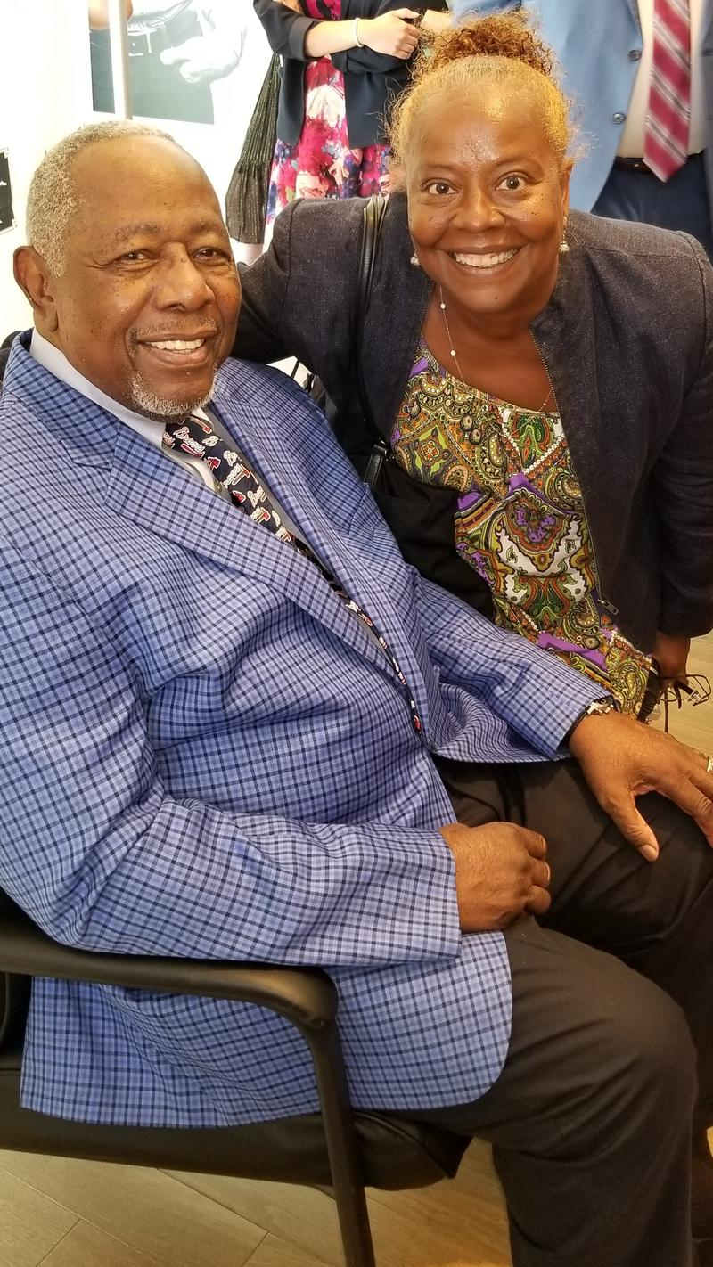 Hank Aaron and Kiplyn Primus June 2018