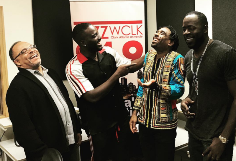 Ray Cornelius with Love Jacked director Alfons Adetuyi, Shamier Anderson and Demetrius Grosse