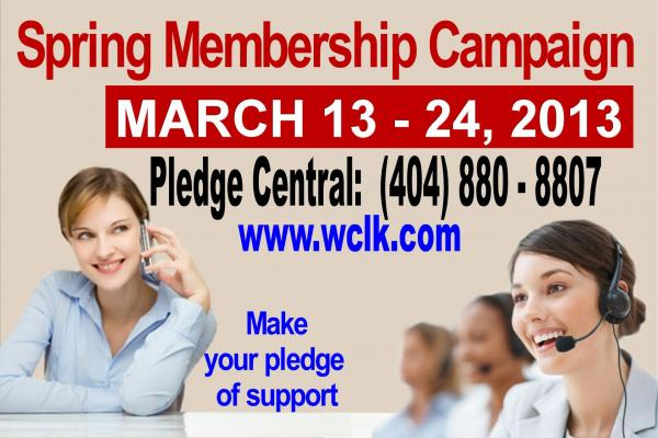 Jazz 91.9 WCLK 2013 Spring Membership Campaign, Wednesday, March 13 through Sunday, March 24.