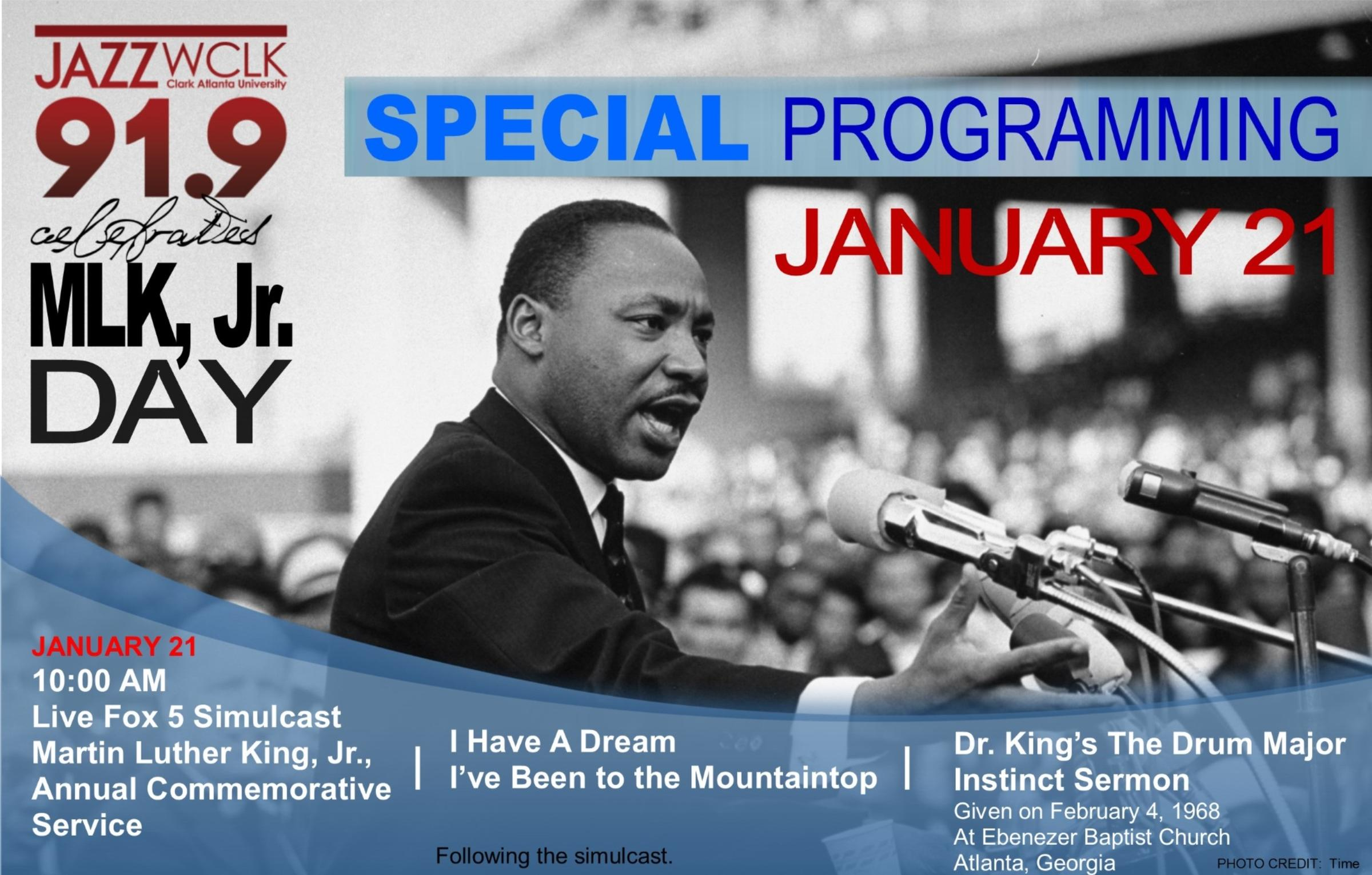 Monday January 21 Join Wclk For Simulcast Of Fox Five S Mlk