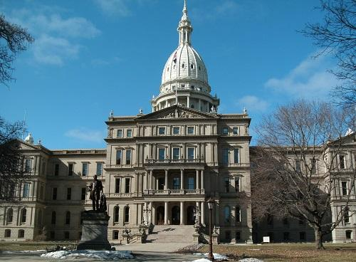 Michigan State Capitol building in Lansing.