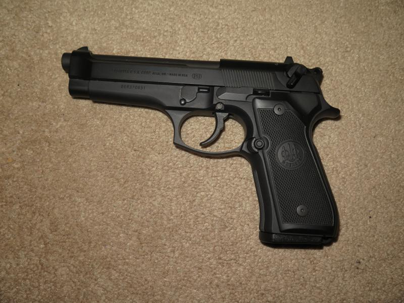A 9mm handgun, one of the most popular types of guns in the U.S.