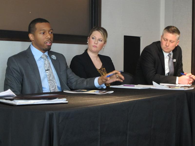 (from left to right) David Taylor, Dayton Early College Academy; Hannah Powell KIPP Columbus; Andrew Boy United Schools Network