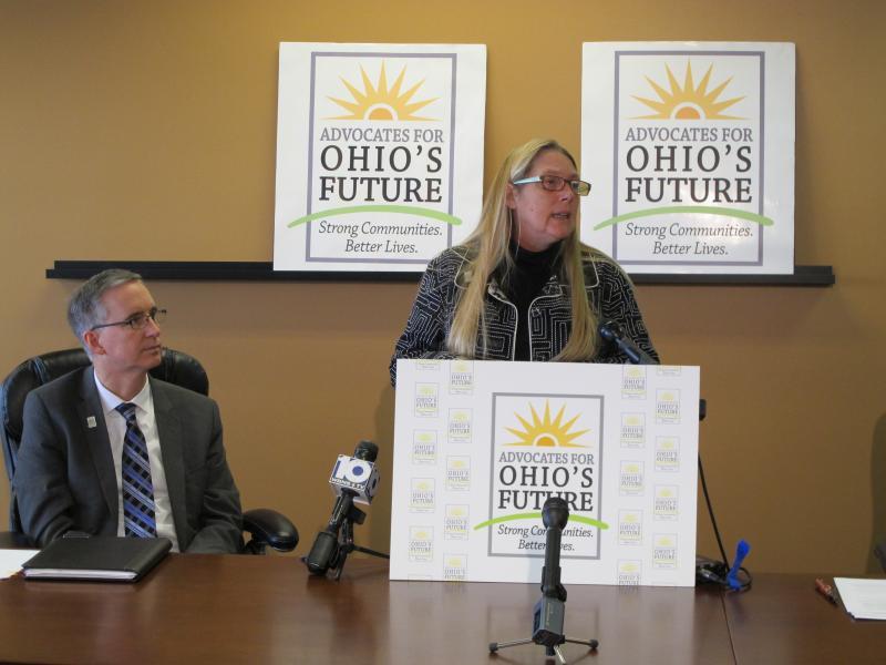 Mark Davis, Ohio Provider Resource Association (left) Lisa Hamler-Fugitt, Ohio Association of Foodbanks (right)