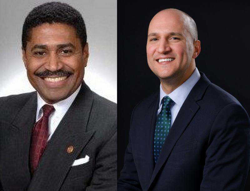 House Minority Leader Fred Strahorn (D-Dayton) and Senate Minority Leader Joe Schiavoni (D-Boardman)