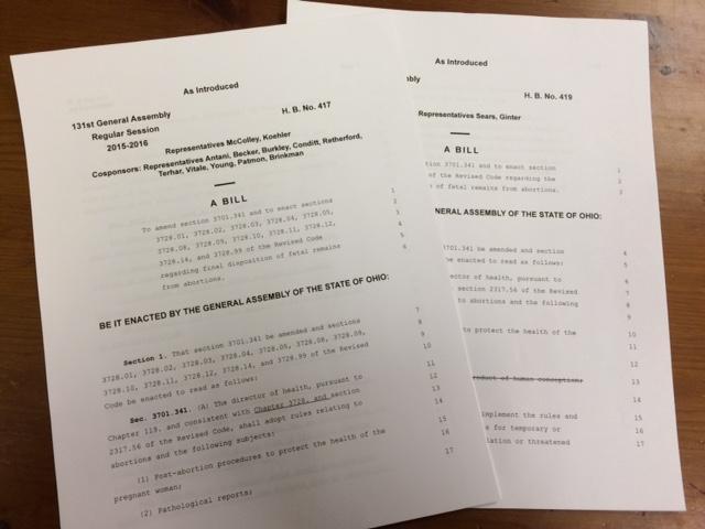 A Closer Look At Fetal Remains Bills In The Ohio Legislature The
