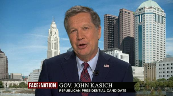 "Presidential candidate Gov. John Kasich appeared on CBS' ""Face the Nation"" on Sunday, February 21, 2016."