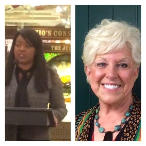 L-R State Representative Alicia Reece (D) and Sue Carter Moore of the Salon Schools