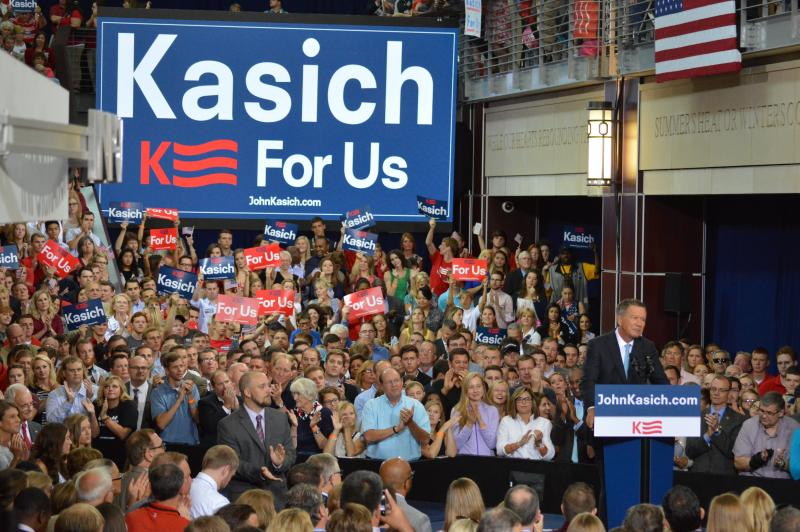 Gov. John Kasich launched his campaign for president in July 2015.