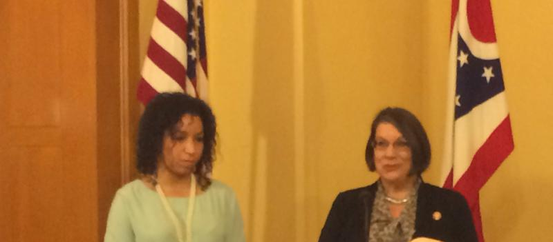 L-R  State Representatives Janine Boyd (D) and Nickie Antonio (D)