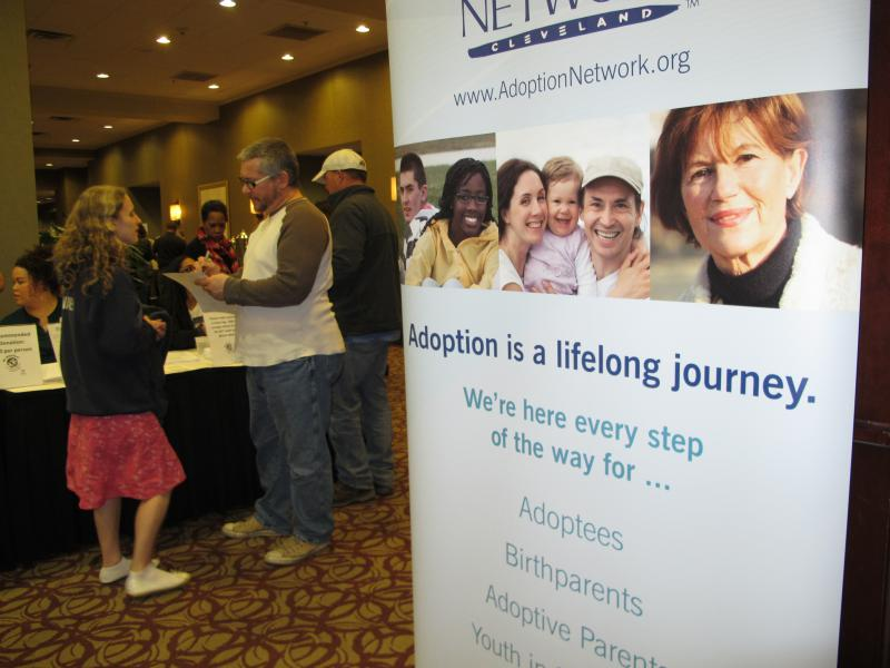 The night before they could file for their paperwork, adoptees gathered at a Columbus hotel.