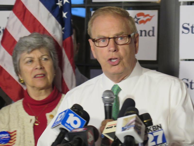 Former Ohio Governor Ted Strickland makes his acceptance speech