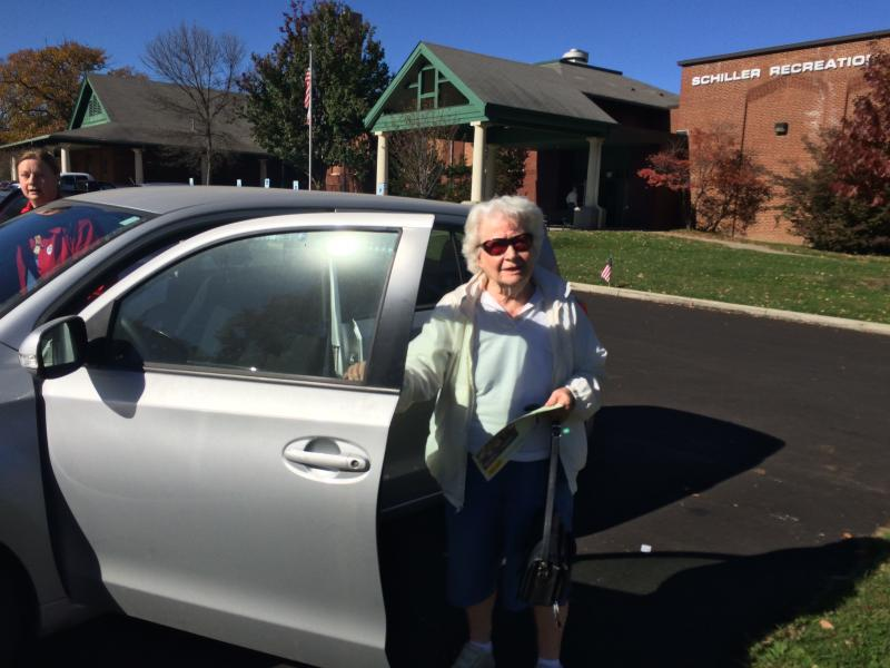 93-year old Columbus resident Jane McFadden cast her ballot for the marijuana issue.