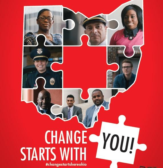 Change Starts Here campaign poster