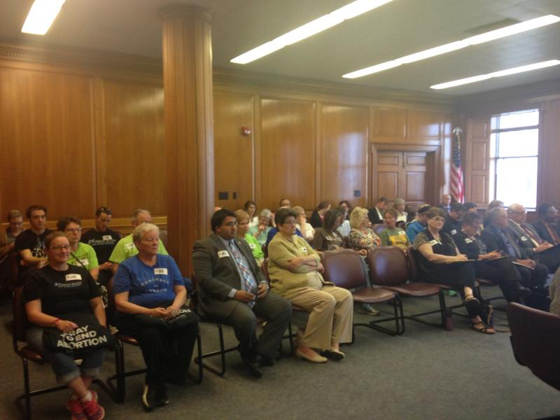 Abortion opponents at Ohio Department of Health hearing in 2016