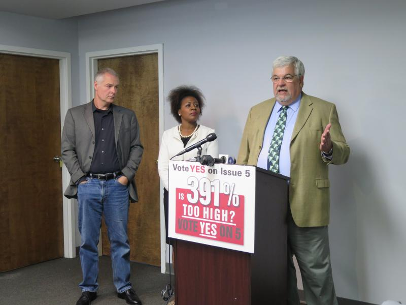 Pastor Carl Ruby from Central Christian Church in Springfield, Kalitha Williams from Policy Matters Ohio and Bill Faith from the Coalition on Homelessness and Housing in Ohio (COHHIO) urge public comment on proposed CFPB rules on payday lenders.