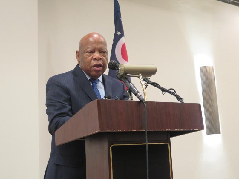 U.S. Rep. John Lewis (D-GA) speaks at the Ohio delegation breakfast.