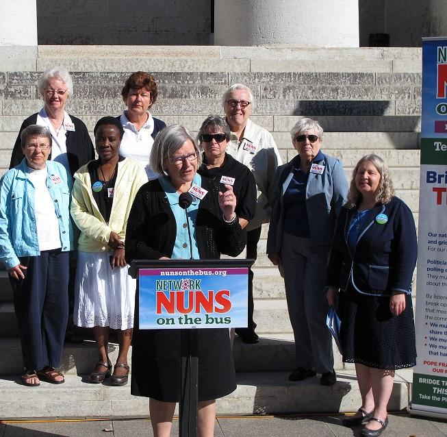 Nuns on the Bus at Ohio Statehouse