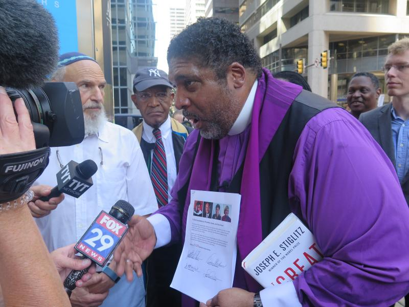 "Rev. Dr. William Barber explains the ""Higher Ground Moral Declaration""."