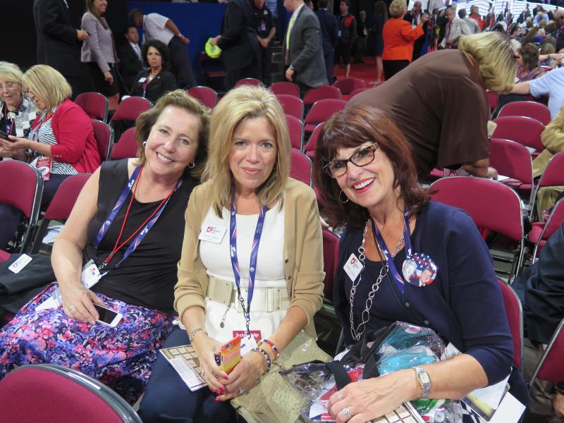 Delegates MIchelle Schneider, Sherri Carbo and Sandra Barber.