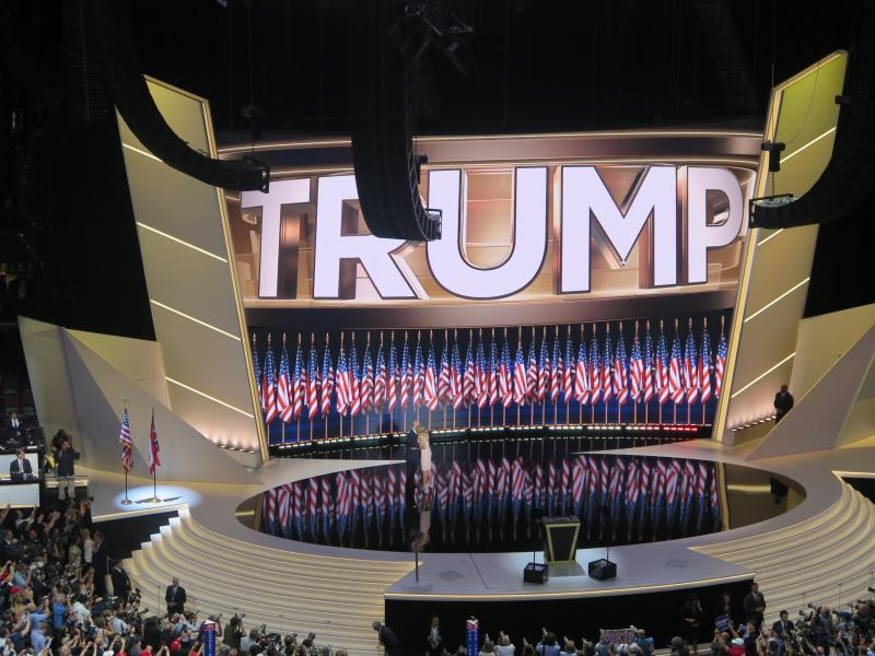 Donald Trump's RNC stage