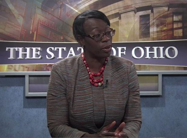 "Former State Sen. Nina Turner (D-Cleveland) appeared on ""The State of Ohio"" in September 2014."