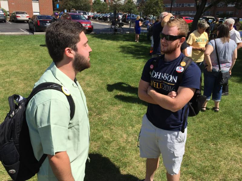 Capital University student supports Libertarian Party presidential nominee Gary Johnson