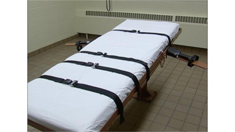 "The bed in the ""death house"" at the Southern Ohio Correctional Facility in Lucasville."