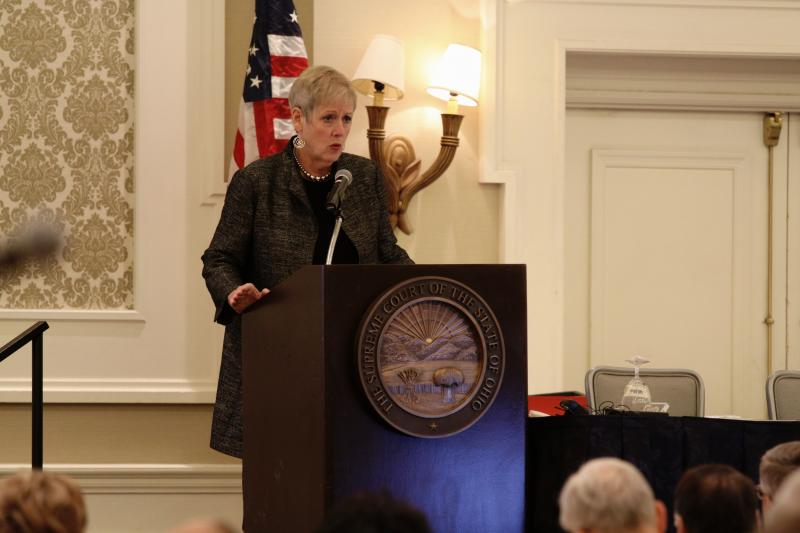 Chief Justice Maureen O'Connor delivers the annual State of the Judiciary speech.