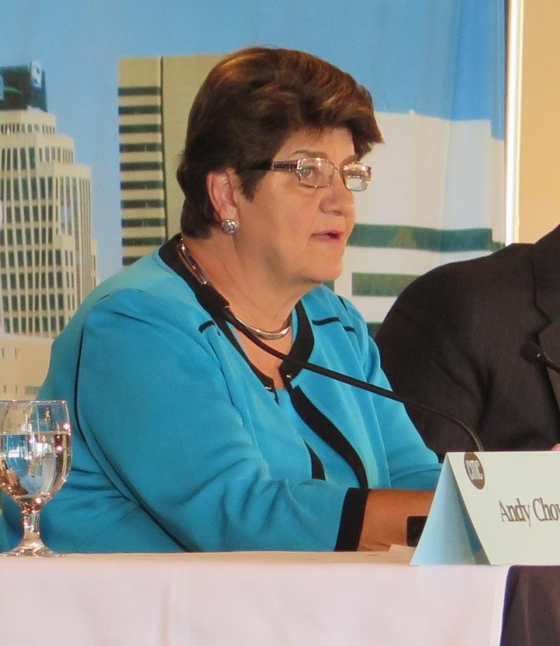 Sen. Peggy Lehner (R-Kettering) at the Columbus Metropolitan Club forum discusses state report card grades.