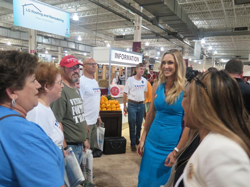 Phyllis Oliver was among those who came to the Ohio State Fairgrounds to meet Donald Trump's daughter-in-law Lara.