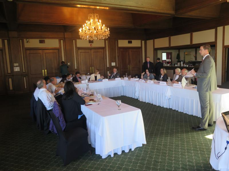 The members of the Ohio Mayors Alliance meet in Columbus.