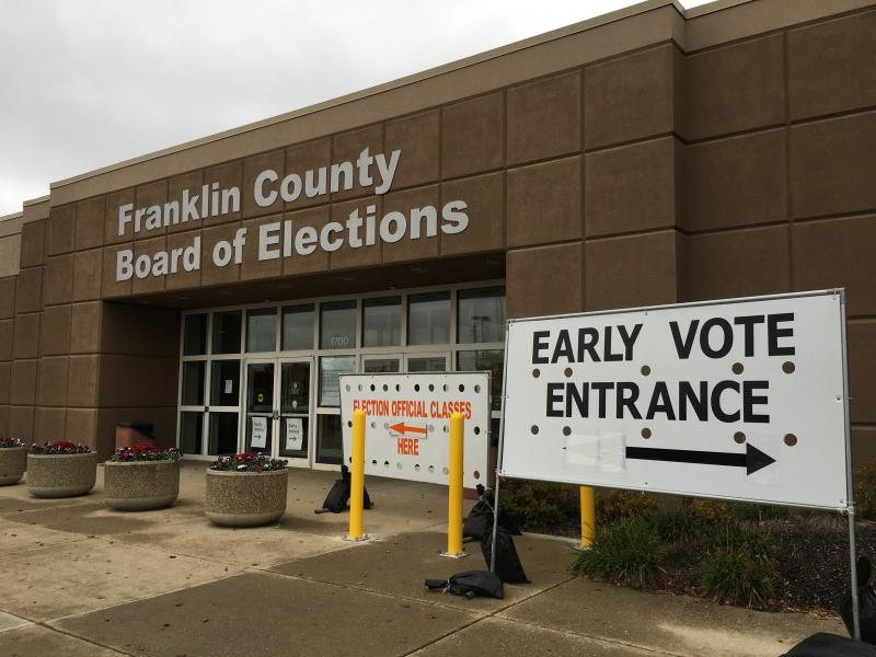 Early voters can cast ballots in person at boards of elections, including in Franklin County.