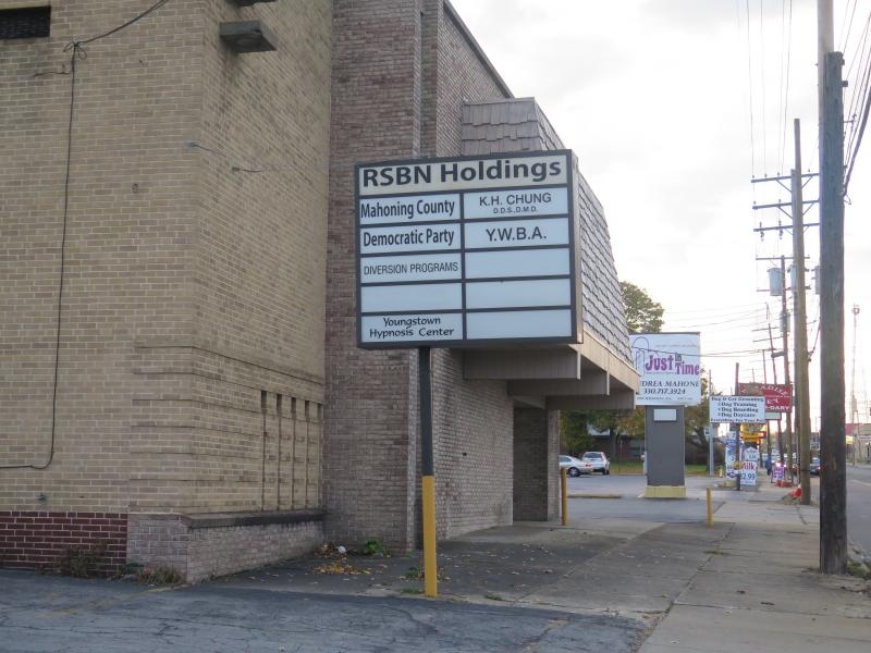 The low-profile offices of the Mahoning County Democratic Party headquarters sits on a busy street in Youngstown.