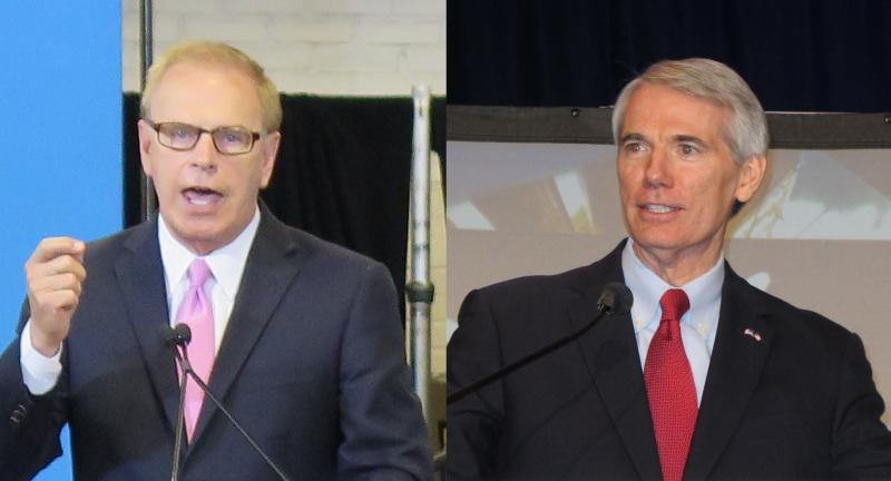 Democratic Former Gov. Ted Strickland and U.S. Sen. Rob Portman (R-OH)