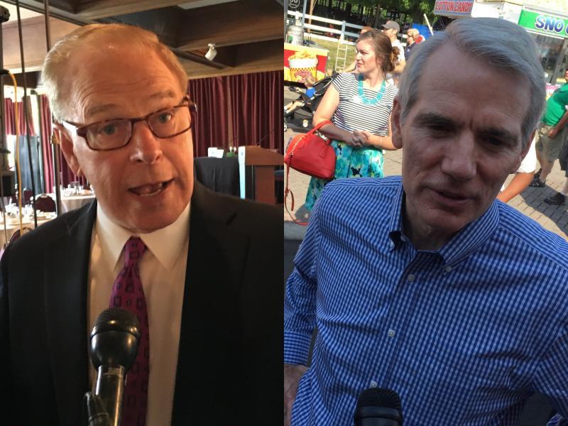 Democratic Former Gov. Ted Strickland and U.S. Sen. Rob Portman (R-OH)