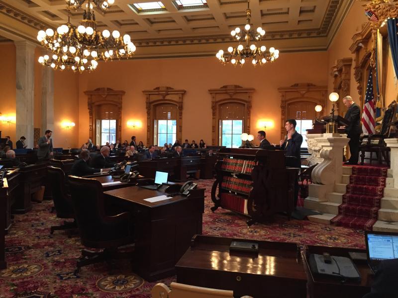 Ohio Senate President Keith Faber (R-Celina) during a long Senate session in the Ohio Statehouse.