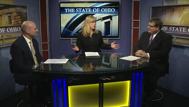 "Senate Minority Leader Joe Schiavoni (D-Boardman) and incoming Senate President Larry Obhof (R-Medina) in an exclusive interview for ""The State of Ohio"".."