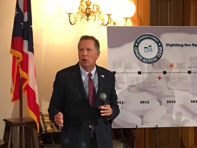 Governor Kasich talks about drug abuse problem in Ohio