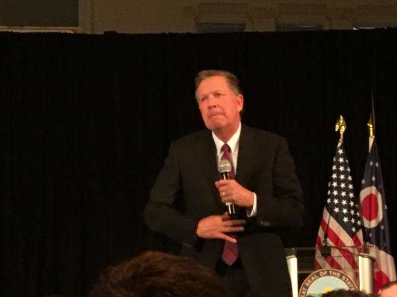 Governor Kasich speaks in Columbus