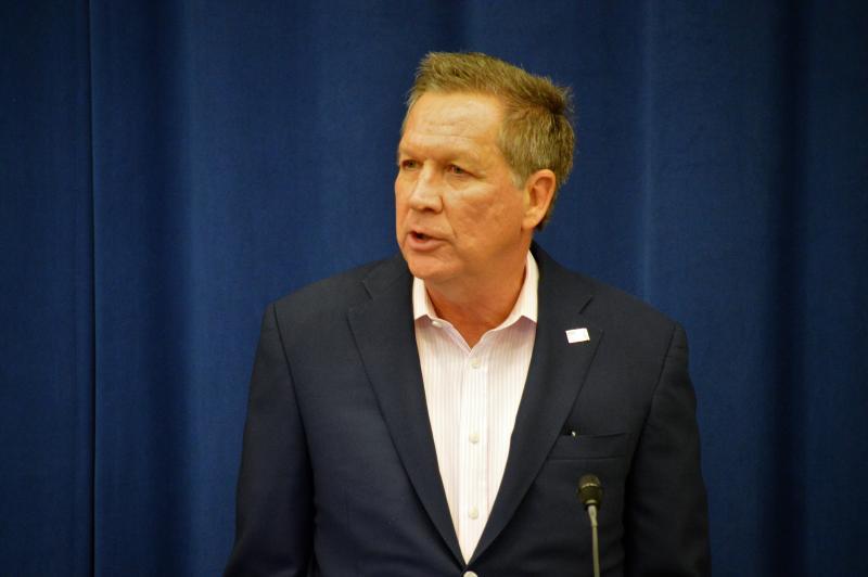 Gov. John Kasich at the 2017 AP Forum in the Thomas J. Moyer Ohio Judicial Center in Columbus.