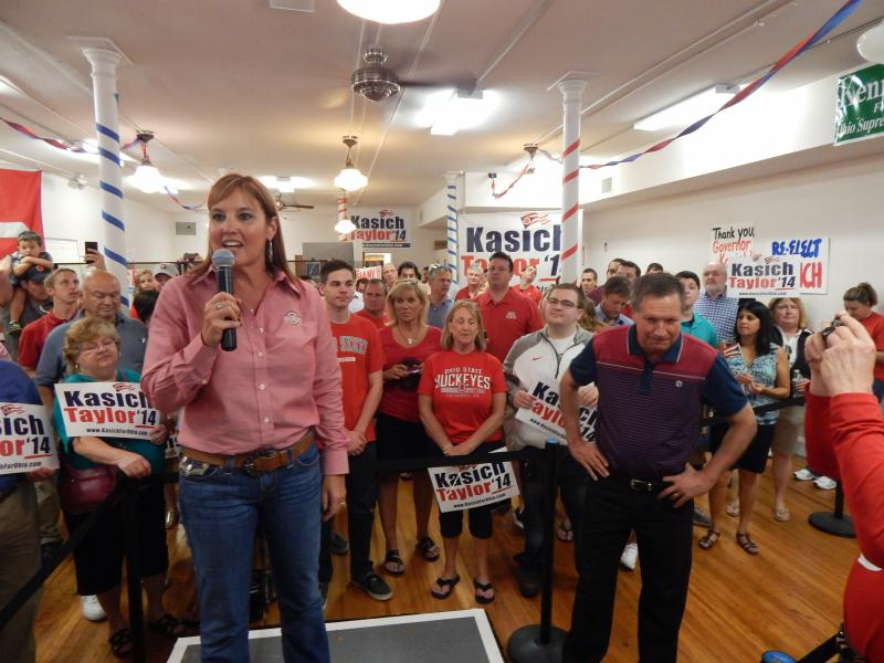 Lt. Gov. Mary Taylor campaigned with Gov. John Kasich in October 2014.