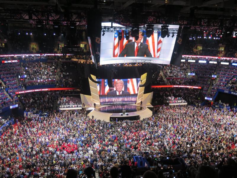 Donald Trump delivers his nomination acceptance speech