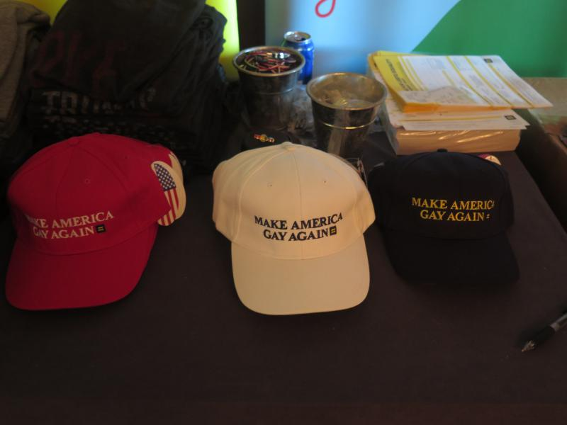 Merchandise for sale at the luncheon.