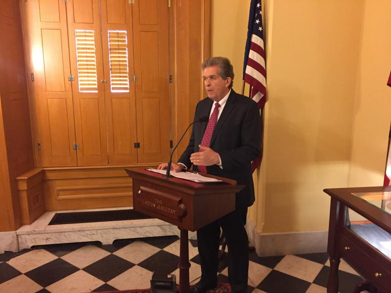 """Phil Cole with the Ohio Association of Community Action Agencies presents the annual """"State of Poverty Ohio"""" report."""