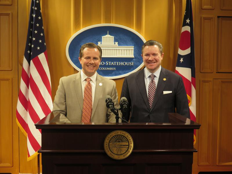 Reps. Rick Carfagna (R-Westerville) and Mike Duffey (R-Worthington)