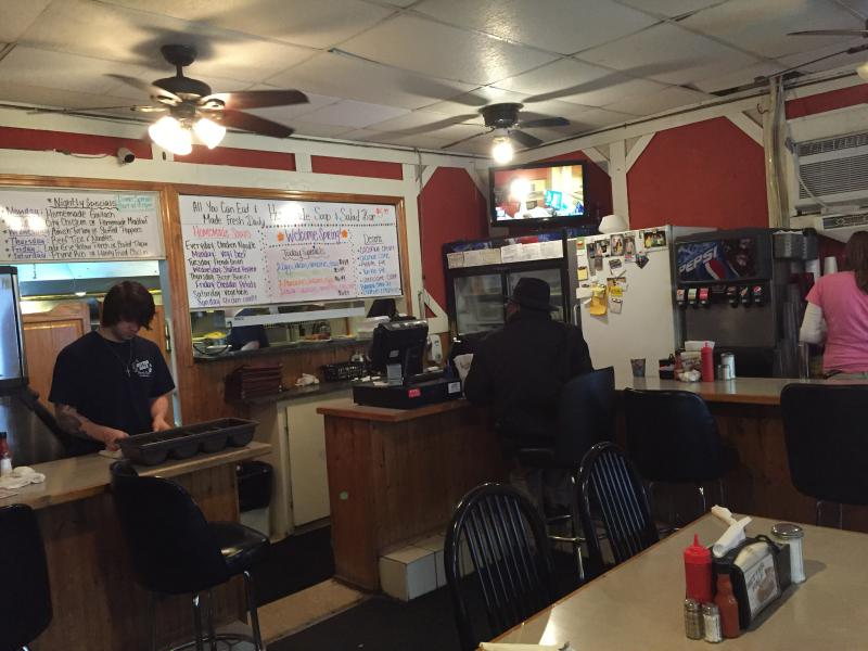 Inside the Better Half Diner in Sandusky where regulars cycle in and out for breakfast.