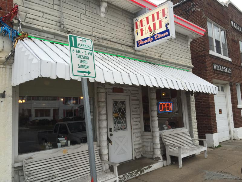 The Better Half Diner sits just a few blocks away from where Gov. John Kasich delivered his State of the State address.