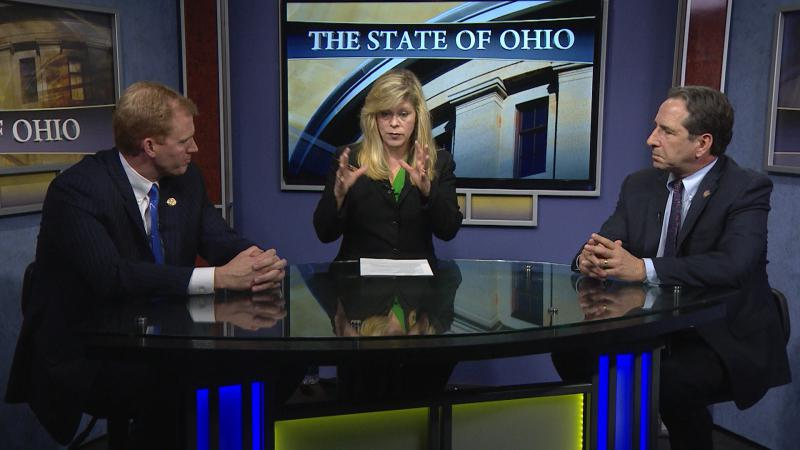 "Rep. Ryan Smith (R-Bidwell) and Rep. Jack Cera (D-Bellaire) appear on ""The State of Ohio"" this weekend."